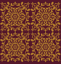 Seamless texture golden vintage pattern vector