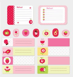 set of baby cards and templates vector image vector image
