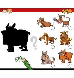 shadows task for children vector image vector image