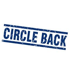 Square grunge blue circle back stamp vector