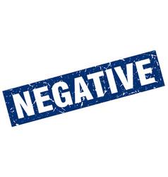 Square grunge blue negative stamp vector