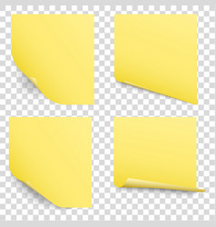 Sticky reminder notes set vector