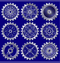 the steampunk gears vector image vector image