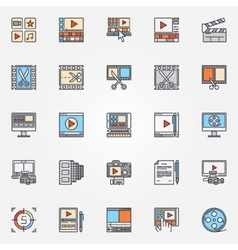 Video production icons set vector