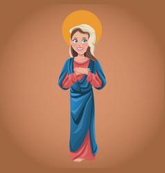 Virgin mary spiritual catholic vector