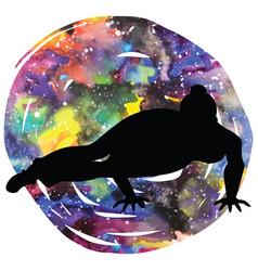 women silhouette eight-angle yoga pose vector image