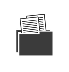 Documents management center isolated icon vector