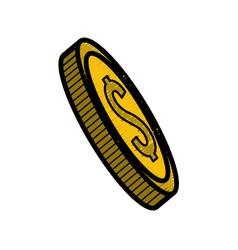 Gold coin money save vector