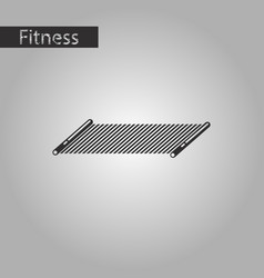 Black and white style icon mat for fitness vector