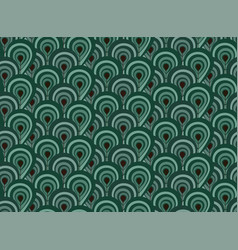 Abstract seamless pattern with surreal forest vector