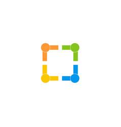 Social icon setlogo icon design template vector