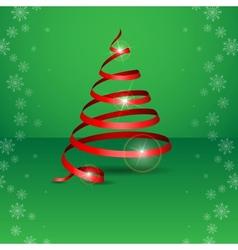 Stylized Ribbon Christmas Tree vector image