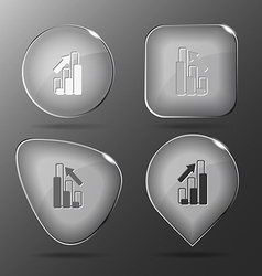 Diagram glass buttons vector