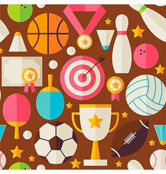 Sport recreation competition flat design brown vector
