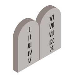 Grave isometric 3d icon vector