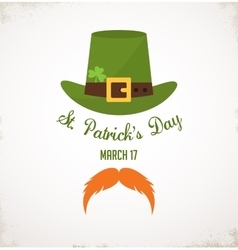 Saint patricks day typographical background vector