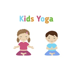 Children yoga vector