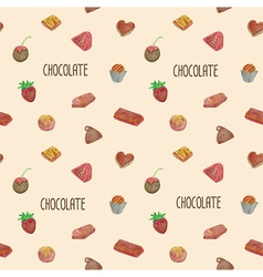 Seamless of chocolate vector image