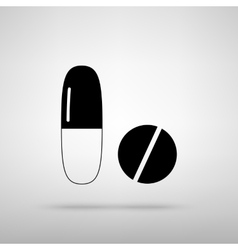 Medical pills sign vector