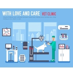 Medical vet clinic veterinarian icon vector