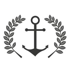 anchor marine symbol icon vector image