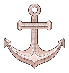 anchor sketch vector image