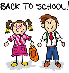 Back to school cartoon characters vector image vector image