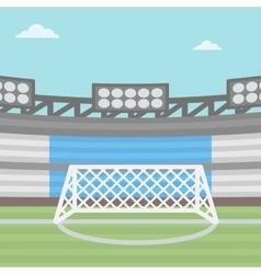 Background of football stadium vector