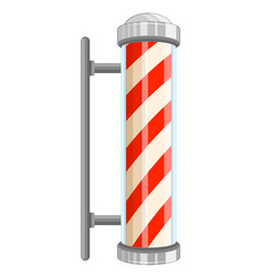 Barber pole sign on white background vector