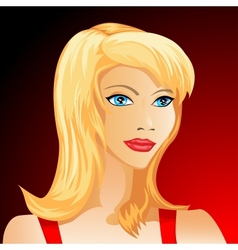 Beautiful blond woman face vector image