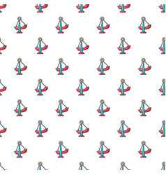 boat swing pattern seamless vector image vector image
