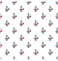 Boat swing pattern seamless vector