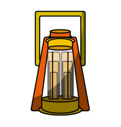 camping light lamp vector image vector image
