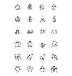 Christmas hand drawn icons 2 vector