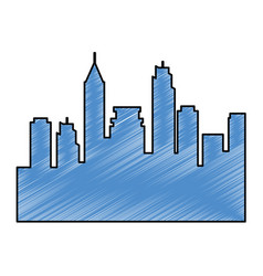 cityscape silhouette isolated icon vector image vector image