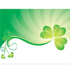 decorative background with clover vector image