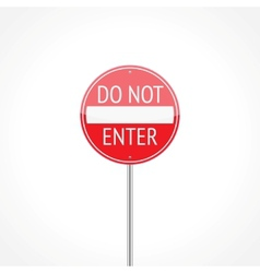 Do not enter traffic sign vector image