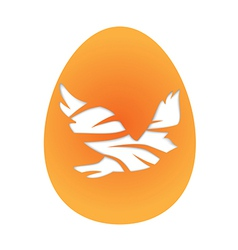Easter egg with pigeon vector