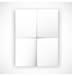 Folded flyer vector image
