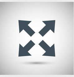four blue arrow vector image