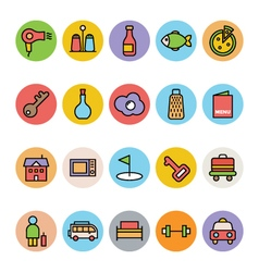 Hotel and restaurant icons 7 vector