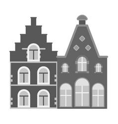 housing in belgiumthe dark belgian wolf belgium vector image