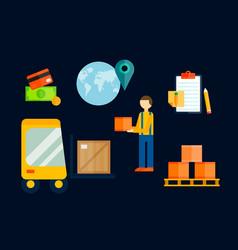 Import export cargo symbols vector