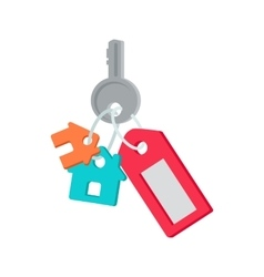Key from House in Flat Design vector image