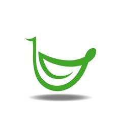 leaf smile logo vector image