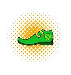 Leprechaun shoe icon comics style vector image vector image