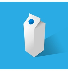 Milk tetrapak template on a blue background vector