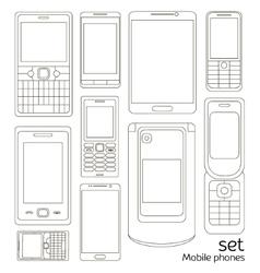Mobile phones set vector