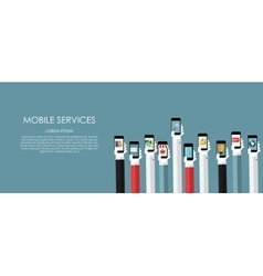 Mobile Services Flat vector image vector image