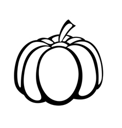 Monochrome of pumpkin logo vector
